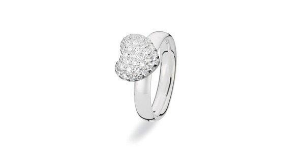 Dámsky prsteň s veľkým srdcom Spinning
