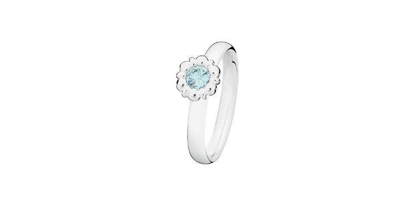 Dámsky prsteň s azúrovou kvetinou Spinning