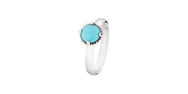 Dámsky prsteň s tyrkysovým kamienkom Spinning