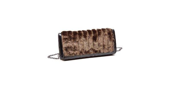 Dámska hnedá kabelka Steve Madden s kožúškom