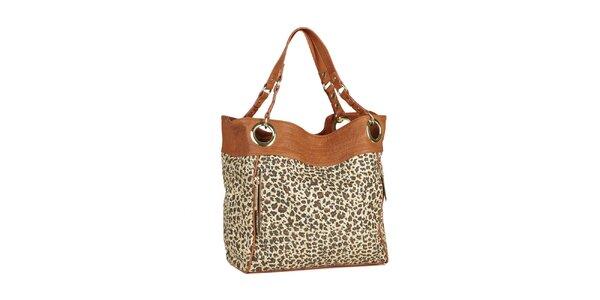 Dámska hnedá leopardia kabelka Steve Madden