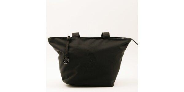 Dámska veľká čierna kabelka s dvomi ušami U.S. Polo