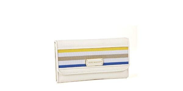 Dámska biela peňaženka Steve Madden s prúžkami