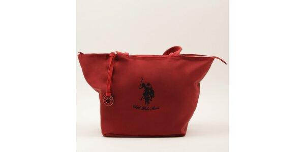 Dámska veľká červená kabelka s dvomi ušami U.S. Polo