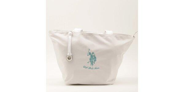 Dámska veľká biela kabelka s dvomi ušami U.S. Polo