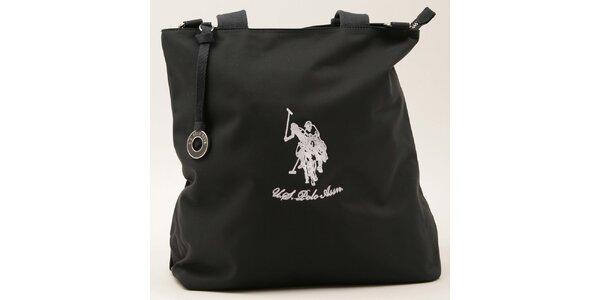Dámska obdĺžniková tmavo modrá kabelka U.S. Polo
