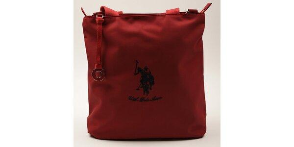 Dámska obdĺžniková červená kabelka U.S. Polo