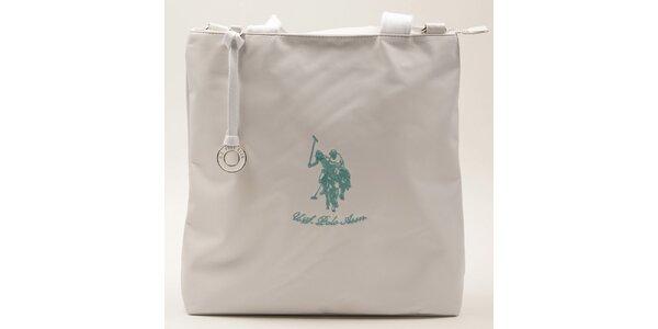 Dámska obdĺžniková biela kabelka U.S. Polo