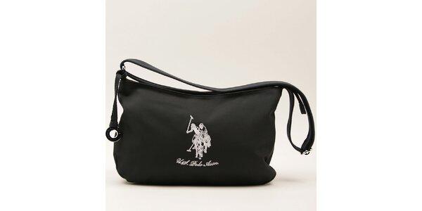 Dámska tmavo modrá kabelka s popruhom a bielym logom U.S. Polo