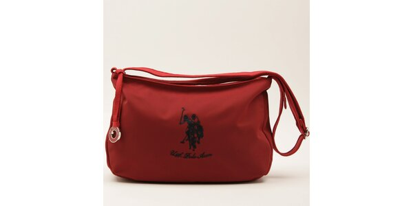 Dámska červená kabelka s jedným uchom U.S. Polo
