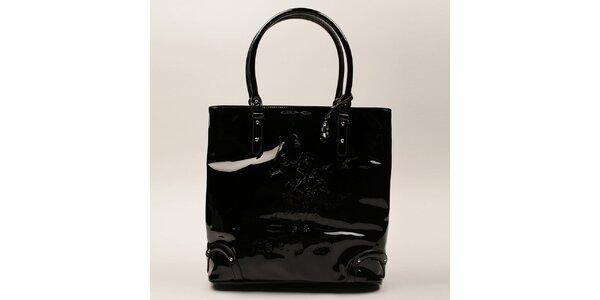 Dámska čierna lesklá kabelka U.S. Polo
