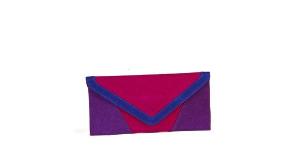 Dámska ružovo-fialová kabelka Steve Madden v semišovej úprave