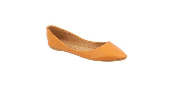 Dámske oranžovožlté balerínky Betsy