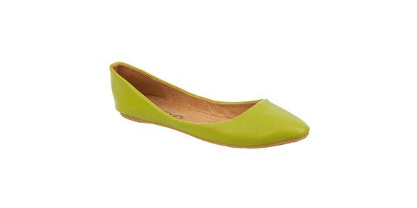 Dámske limetkovo zelené balerínky Betsy
