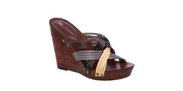 Dámske remienkové sandále na kline Elisabeth