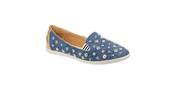 Dámske džínsové topánočky s kovovými ozdobami Betsy