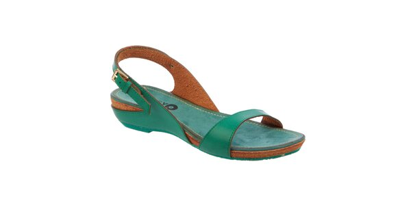 Dámske zelené nízke sandále Betsy