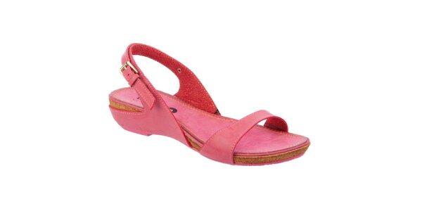 Dámske ružové nízke sandále Betsy