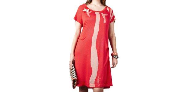 Dámske červené šaty Coquette