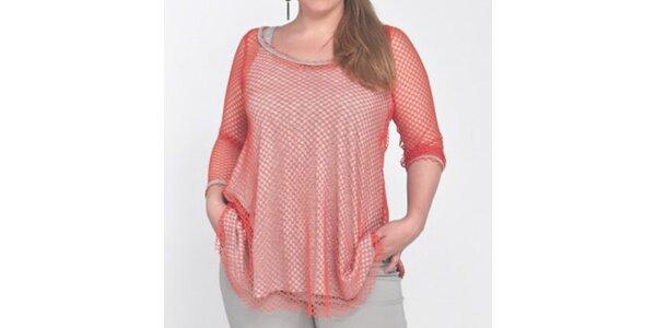 Dámske dvojvrstvové sieťované tričko Coquette