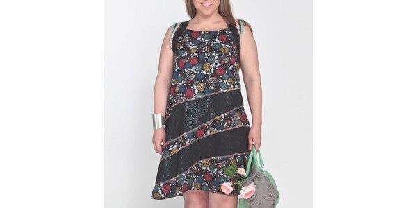 Dámske šaty s farebnými potlačami Coquette