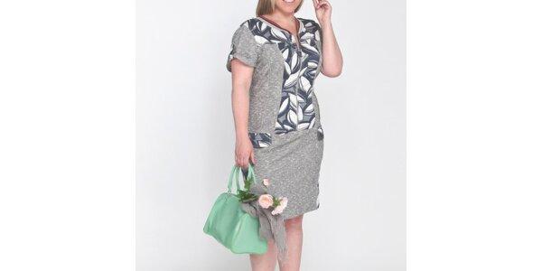 Dámske krátke šaty s kontrastnými vzormi Coquette