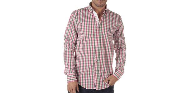 Pánska viacfarebná košeľa s kockovaným vzorom CLK