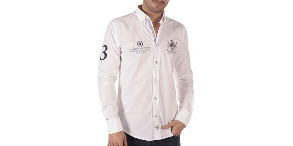 Pánska voľnočasová košeľa v bielej farbe CLK