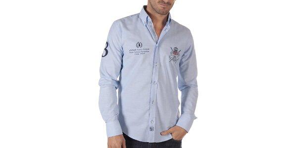Pánska voľnočasová košeľa vo svetlo modrej farbe CLK