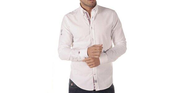 Pánska biela košeľa s výšivkou CLK