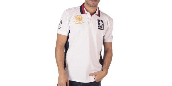 Pánske biele polo tričko CLK