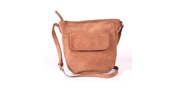 Dámska hnedá kabelka s nastaviteľným popruhom Kate Lee