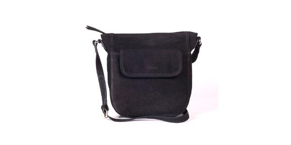 Dámska čierna kabelka s nastaviteľným popruhom Kate Lee