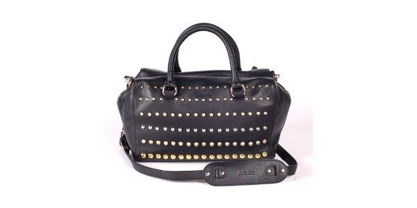 Dámska čierna kabelka s ozdobnými cvokmi Kate Lee