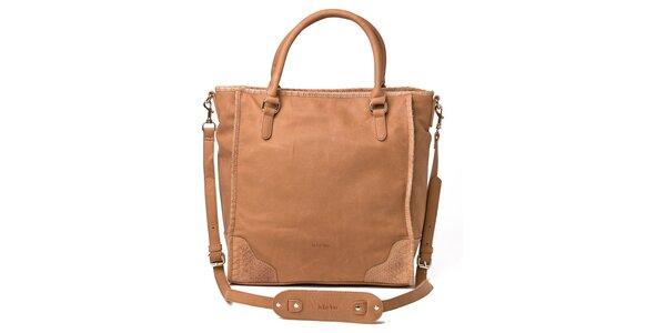 Dámska svetlo hnedá kabelka Kate Lee