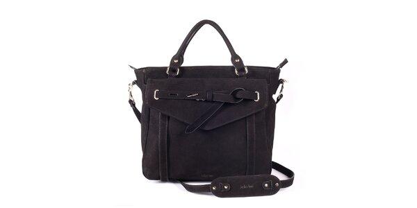 Dámska čierna kabelka s ozdobným remienkom Kate Lee