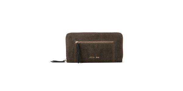 Dámska semišová khaki peňaženka Kate Lee