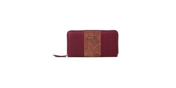 Dámska vínová peňaženka Kate Lee