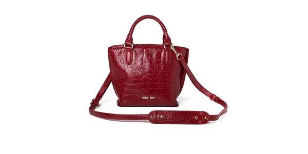 Dámska červená kabelka so vzorom krokodílej kože Kate Lee