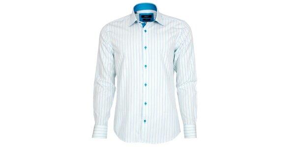 Pánska modro-biela pruhovaná košeľa Brazzi