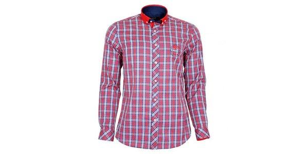 Pánska červeno kockovaná košeľa Brazzi