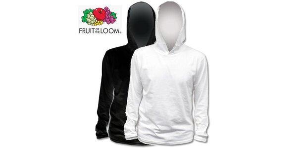 Čierne a biele tričko s kapucňou