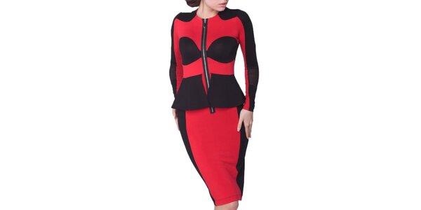 Dámske červeno-čierne šaty Arefeva