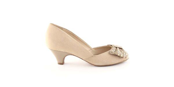 Dámske béžové topánky s mašľou Arezzo