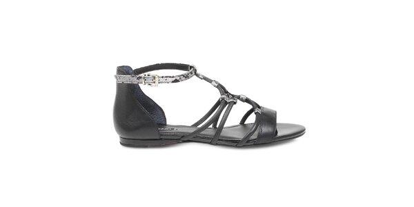 Dámske kožené čierne topánky Arezzo