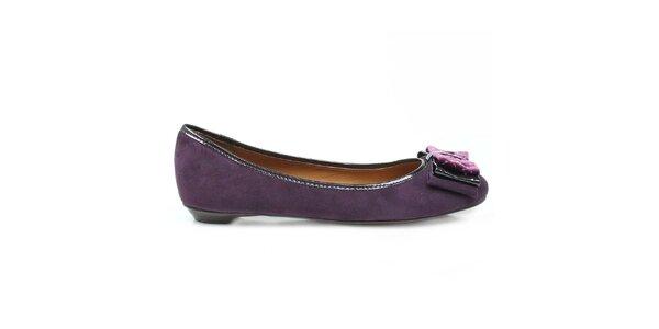 Dámske fialové balerínky s mašľou Arezzo