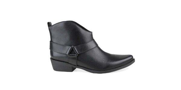 Dámske čierne členkové topánky Arezzo