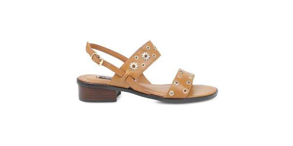 Dámske hnedé sandále s ozdobnými remienkami Arezzo