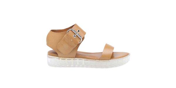 Dámske hnedé sandále Arezzo