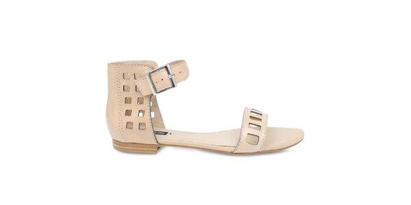 Dámske béžové sandále Arezzo